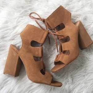 Urban Outfitters Glazed Ginger Suede Lace-Up Heels